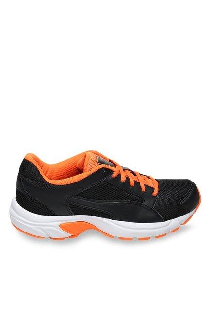 Buy Puma Splendor DP Black   Orange Clown Fish Running Shoes for Men at  Best Price   Tata CLiQ a61eca646