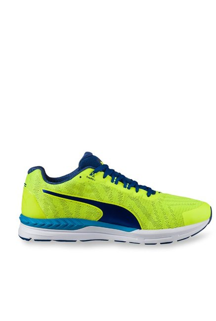 Buy Puma Speed 600 Ignite 2 Safety Yellow   Blue Running Shoes for Men at  Best Price   Tata CLiQ 57dd0e37d