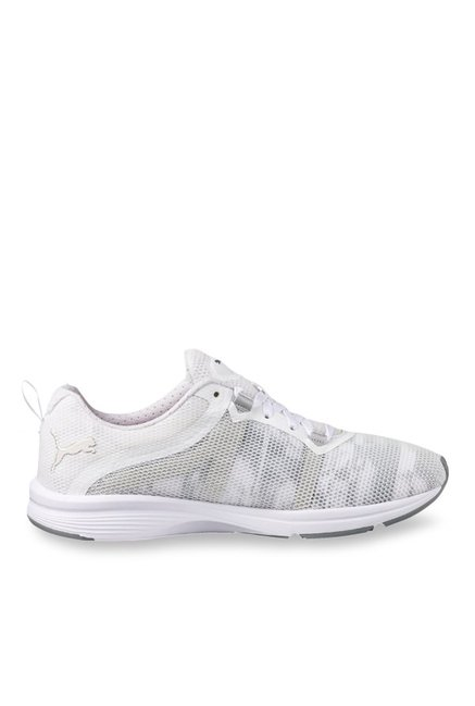0c0c3a255a0af8 Buy Puma Ignite Pulse XT Swan White   Quarry Training Shoes for Women at Best  Price   Tata CLiQ