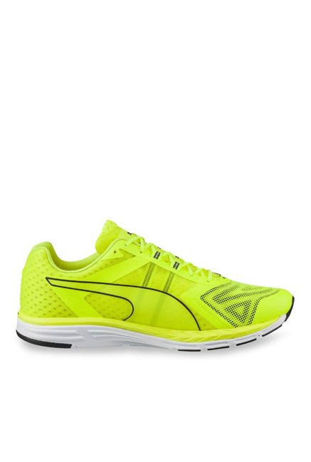 8f158013f0b0 Buy Puma Speed 500 Ignite Pwrcool Yellow   Grey Running Shoes ...