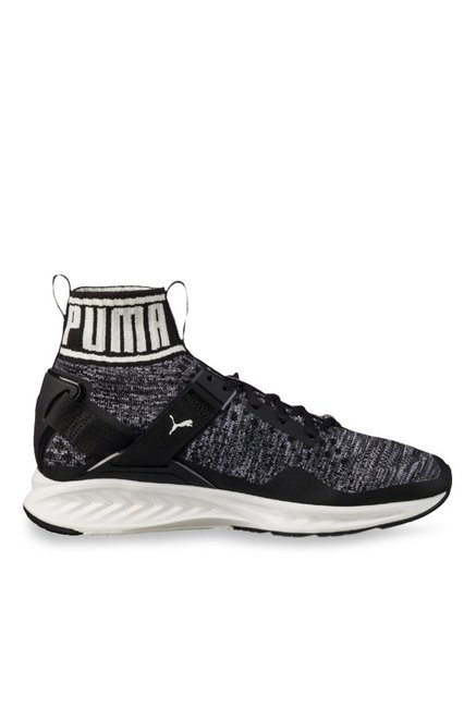 Buy Puma Ignite evoKNIT Black   Quiet Shade Running Shoes for ... 73e1a5e34