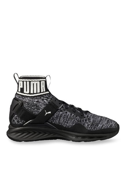 pretty nice 287f6 cebb9 Buy Puma Ignite evoKNIT Black & Quiet Shade Running Shoes ...