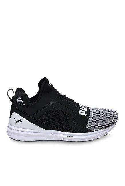 Buy Puma Ignite Limitless Colorblock Black   White Running Shoes for Men at  Best Price   Tata CLiQ da1896df3