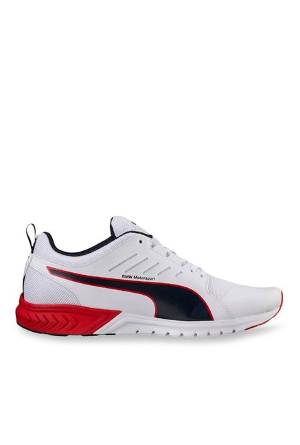 Buy Puma BMW MS Pitlane Ignite Dual White   Navy Running Shoes ... d355dff7d