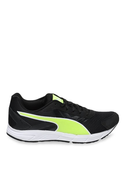 c043e86978 Puma Valor IDP Black & Safety Yellow Running Shoes