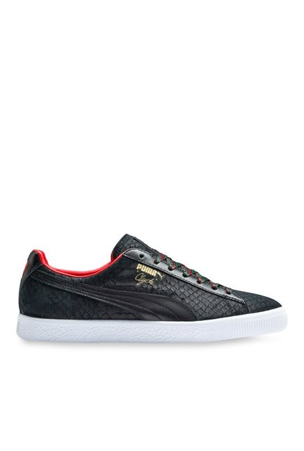 155694e4499a Buy Puma Clyde GCC Black   High Risk Red Sneakers for Men at ...