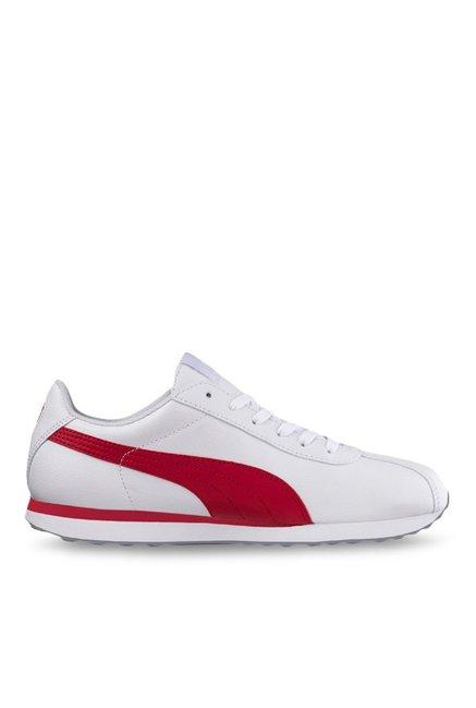 5bd19d7ea706 Buy Puma Turin White   Barbados Cherry Sneakers for Men at Best Price   Tata  CLiQ