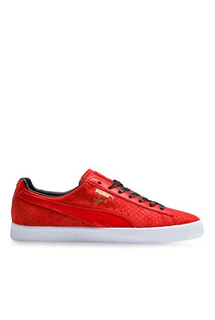 the latest 4be5e a9a59 Buy Puma Clyde GCC High Risk Red & Black Sneakers for Men at ...