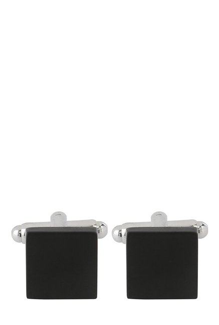 Raymond Black Solid Metal Cufflinks