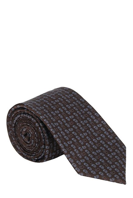 Raymond Dark Brown Paisley Silk Tie