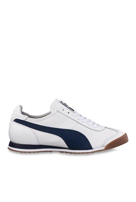 Buy Puma Roma OG 80s White & Peacoat Sneakers for Men at