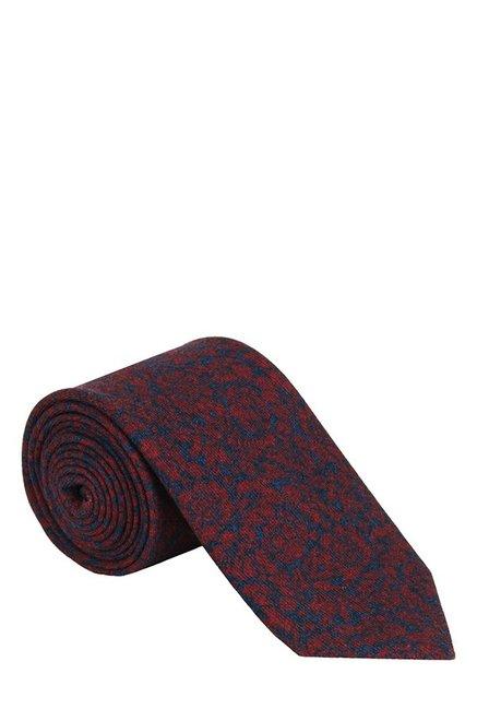 Raymond Dark Red & Blue Floral Woolen Tie