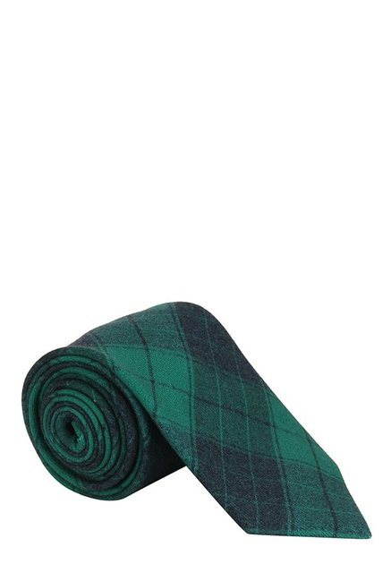 Raymond Dark Green Plaid Woolen Tie