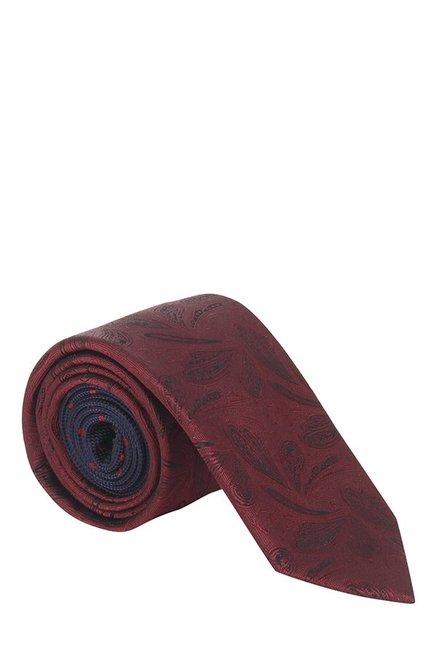 Raymond Dark Red & Black Paisley Silk Tie