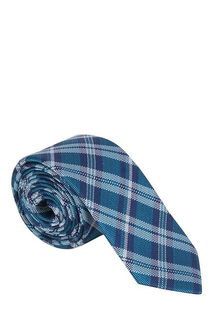 Raymond Blue & White Plaid Silk Tie