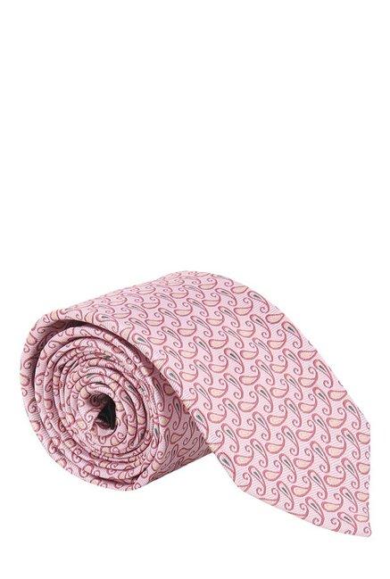 Raymond Pink Paisley Silk Tie