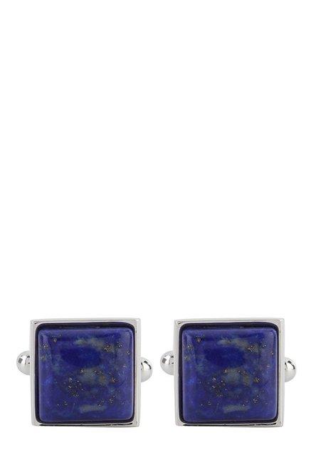 Raymond Dark Blue Embellished Metal Cufflinks