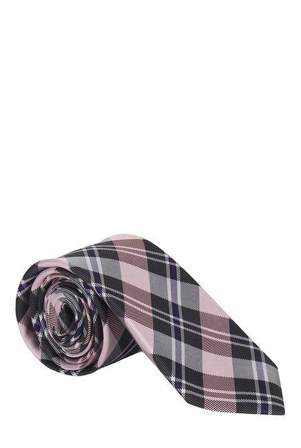 Raymond Pink & Black Plaid Silk Tie