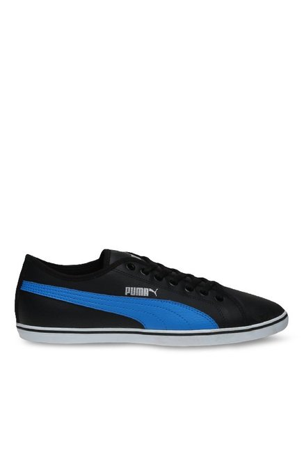 d1b52eb520b Buy Puma Elsu V2 SL DP Black   French Blue Sneakers for Men at Best Price    Tata CLiQ