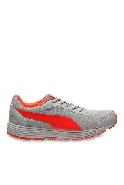 34ffe8772ca772 Buy Puma Reef Fashion DP Quarry   Red Blast Running Shoes for Men at Best  Price   Tata CLiQ