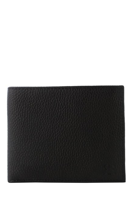 Raymond Black Leather Bi-Fold Wallet