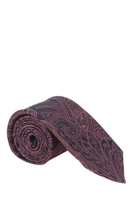 Raymond Maroon Paisley Silk Tie