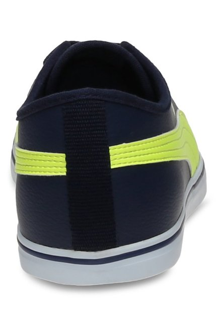 Buy Puma Elsu V2 SL DP Peacoat & Safety Yellow Sneakers for Men at Best Price @ Tata CLiQ