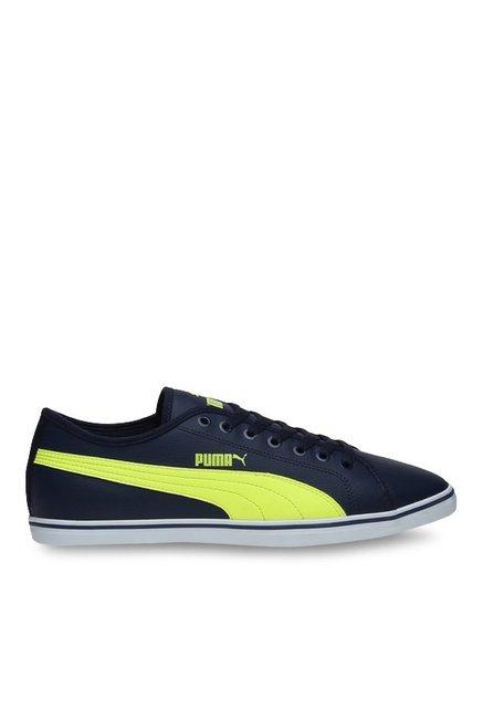 563ac9b0d98 Buy Puma Elsu V2 SL DP Peacoat   Safety Yellow Sneakers for Men at Best  Price   Tata CLiQ