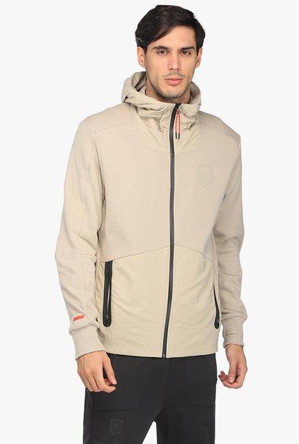 e7a1903468ba Buy Puma Beige Hooded Jacket for Men Online   Tata CLiQ