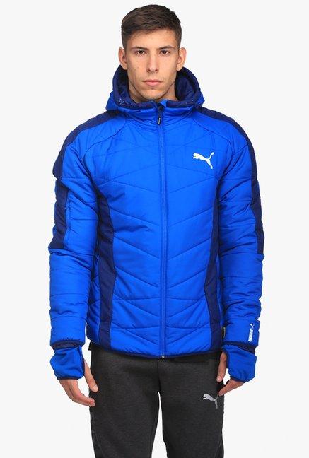 8404141afd96 Buy Puma Royal Blue Regular Fit Hooded Jacket for Men Online   Tata CLiQ