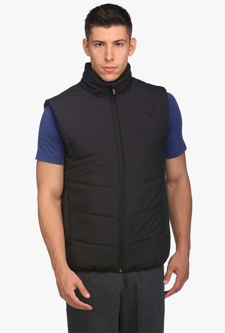 c24a70bc806a Buy Puma Black Quilted High Neck Jacket for Men Online   Tata CLiQ