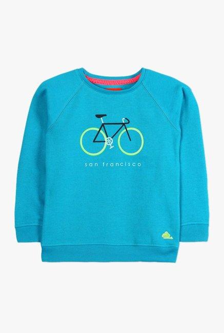 896d4a7ca Buy Cherry Crumble California Blue Printed Sweatshirt for Boys Clothing  Online @ Tata CLiQ