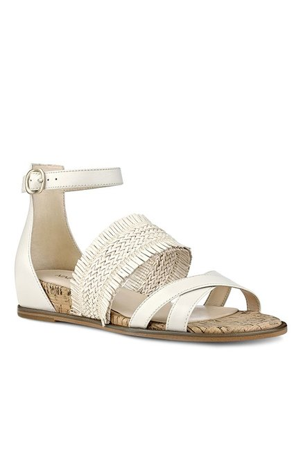 8023076ab44 Buy Nine West Nwvernell Off-White Ankle Strap Sandals for Women at ...