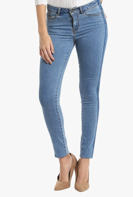 Vero Moda Blue Slim Fit Rinse Washed Jeans
