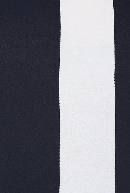 Pannkh Navy & Red Round Neck Kurta