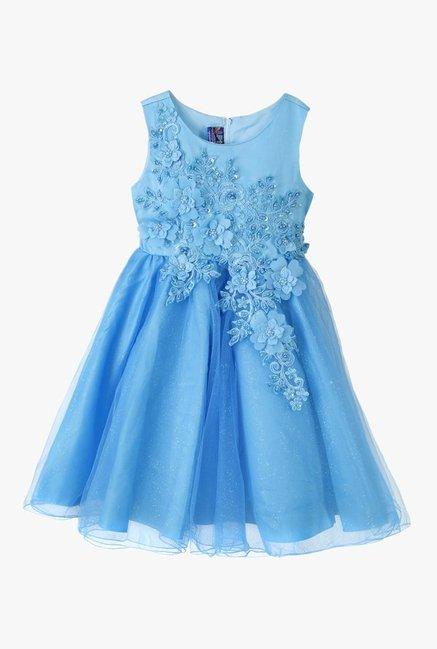 b8555995a18 Buy Lilliput Sky Blue Embellished Dress for Girls Clothing Online   Tata  CLiQ