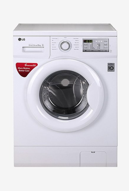 LG FH0H3NDNL02 6 Kg Fully Automatic Front Load Washing Machine  White