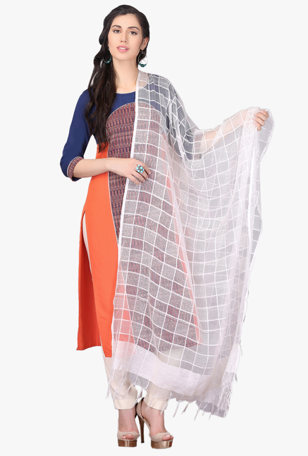 fcaabaf02c Buy Aurelia White Viscose Dupatta for Women Online @ Tata CLiQ