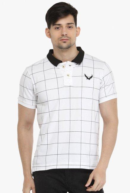 d3fb40e77db Buy Monteil   Munero White Short Sleeves Checks T-shirt for Men Online    Tata CLiQ