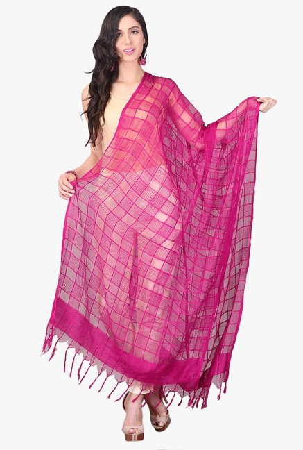 0ecf514627 Buy Aurelia Pink Viscose Dupatta for Women Online @ Tata CLiQ