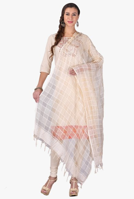 b425358df9 Buy Aurelia Beige Viscose Dupatta for Women Online @ Tata CLiQ