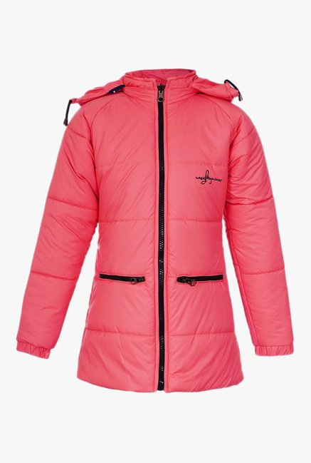 2bccc994a642 Buy Naughty Ninos Pink Solid Hood Jacket for Girls Clothing Online ...