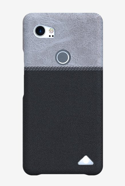 best service 885cc 6ae75 Buy Stuffcool Lush Leather Google Pixel 2 XL Back Case (Grey/Black ...