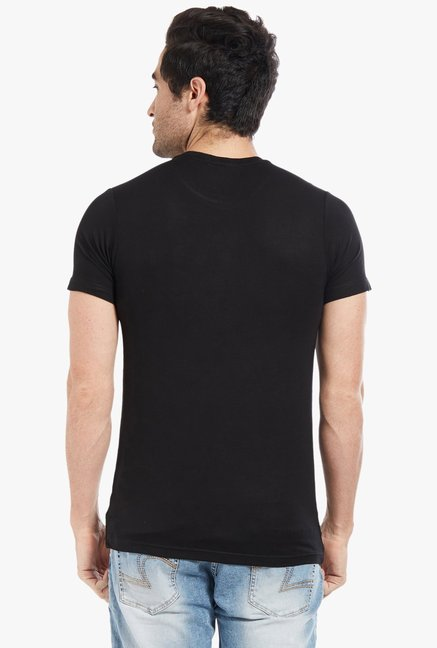 Globus Black Graphic Print T-Shirt