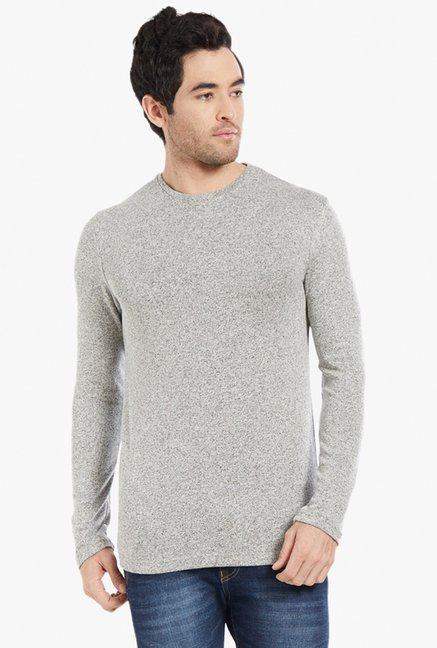 Globus Grey Textured T-Shirt