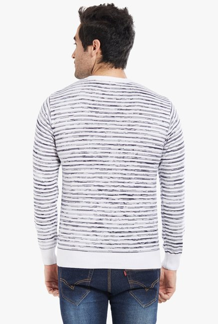 Globus White Striped T-Shirt