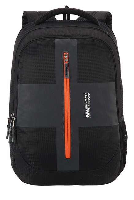 American Tourister Juke Black Textured Polyester Backpack