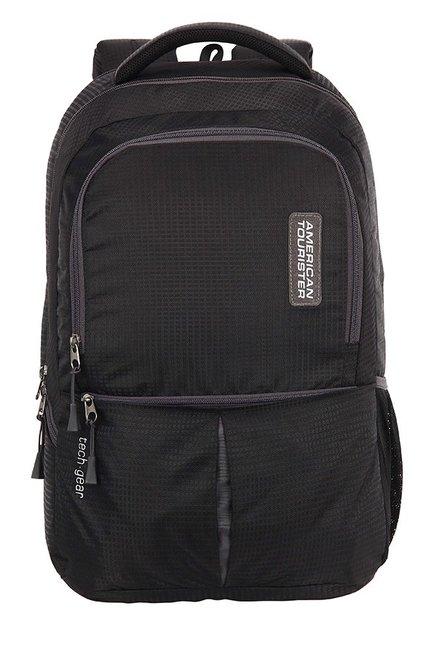 American Tourister Tech Gear Black Textured Backpack