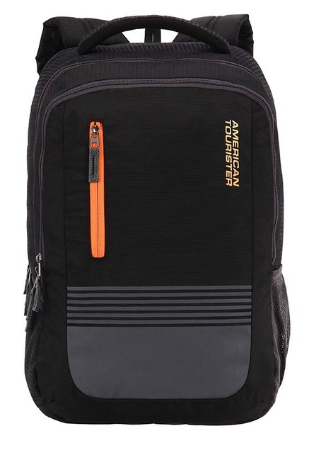American Tourister Aero Black & Grey Striped Backpack