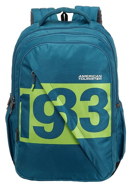 American Tourister Boom Teal Blue & Green Printed Backpack